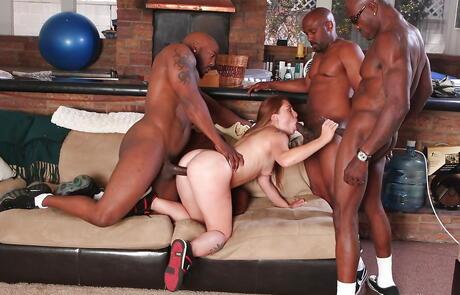 Interracial Gangbang Porn Pics